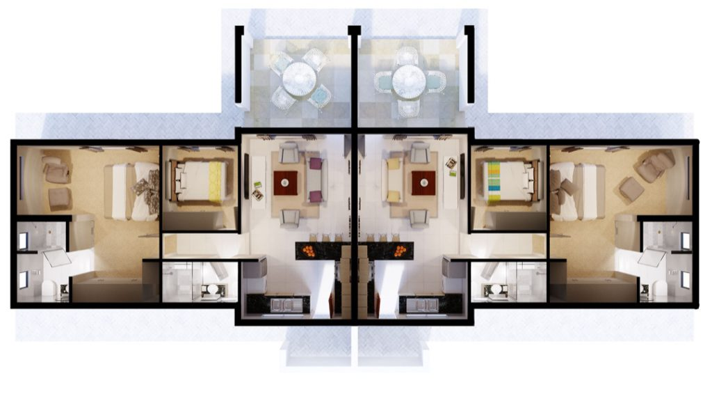 Wigwam 2 Bedroom Mirrored