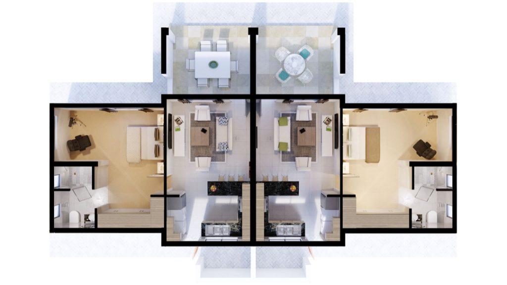 Wigwam 1 Bedroom Mirrored